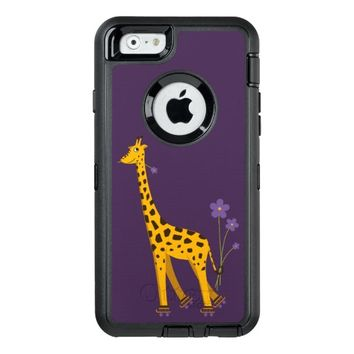Purple Funny Roller Skating Giraffe OtterBox iPhone 6/6s Case