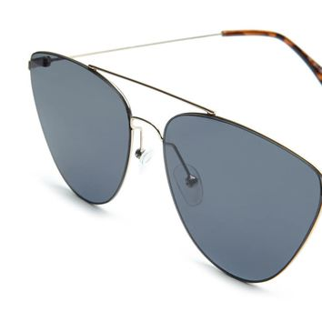 Geometric Aviator Sunglasses