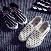 Womens Lightweight Striped Canvas Shoes