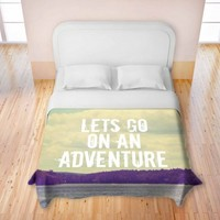 Artistic Duvet Cover | Rachel Burbee | Lets Go On An Adventure | Dianoche Designs