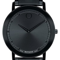 Men's Movado 'Sapphire' Bracelet Watch, 40mm - Black