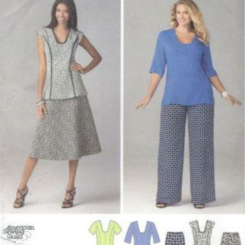 Simplicity American Sewing Guild Pattern 1431 Misses Dress or Tunic, Pants and Skirt Sizes 10-12-14-16-18
