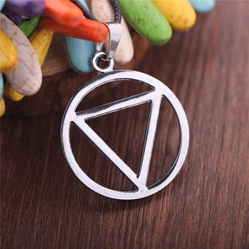 Naruto Sasauke ninja Classic Trendy Punk Rope Chain Choker Necklace Geometric Round Triangle Eminem Torques Jewelry Triangle  Hidan Pendant AT_81_8