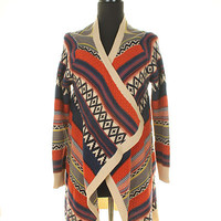 Ethnic Patterned Multicolor Cardigan from Rad and Lux