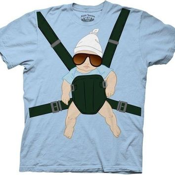 The Hangover Baby Carrier Funny Movie Licensed Adult T Shirt