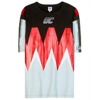 opening ceremony - flame foil-print oversized cotton t-shirt