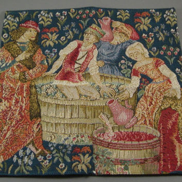Estate Gobelin Handmade Tapestry / Needlepoint / in Original Gobelins Art Packaging