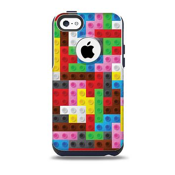 The Neon Colored Building Blocks Skin for the iPhone 5c OtterBox Commuter Case
