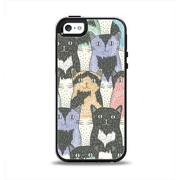 The Vintage Cat portrait Apple iPhone 5-5s Otterbox Symmetry Case Skin Set