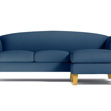 Albright Reversible Chaise Sofa :: Leg Finish: Natural