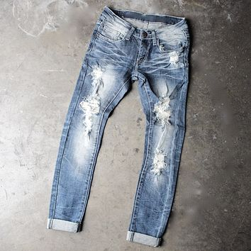 7th street distressed skinny denim jeans