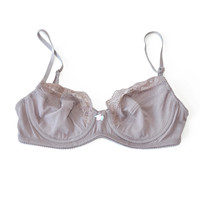 Only Hearts Mauve Cotton Bralette available at les pommettes los angeles