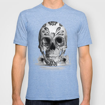 Pulled sugar, day of the dead skull T-shirt by Kristy Patterson Design