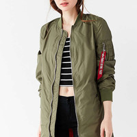 Alpha Industries L2B Longline Flight Jacket | Urban Outfitters