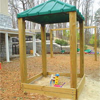 Planet Playgrounds Free Standing Fun Sandbox w/Roof