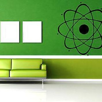 Vinyl Sticker Wall Art Decor Mural Atom Nuclear Science Phisics Chemistry Unique Gift EM024