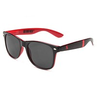 Nebraska Cornhuskers Throwback Sunglasses in Black and Red by Society43