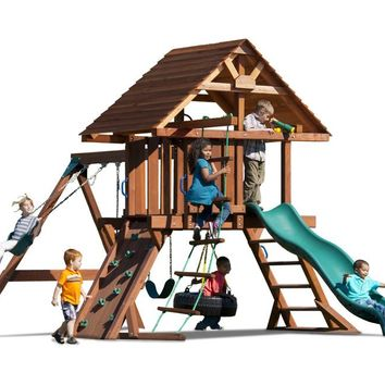 Playnation Two Ring Deluxe Wooden Swing Set