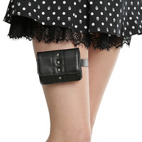 Leg Belt With Studded Card Holder