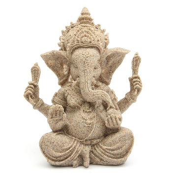 The Hue Sandstone Ganesha Sculpture ~