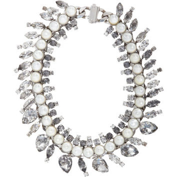 Rock Crystal & Mother Of Pearl Cone Necklace