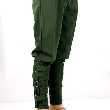Casual women Army Green pants