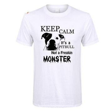 Keep Calm its a Pitbull Not a Freakin Monster T-Shirts - Men's Top Tees