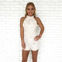 Diamond In The Rough Lace Romper
