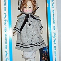 11 Inch Shirley Temple Doll with Dimples in Coat and Hat