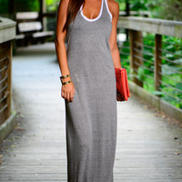 Alley-Oop Maxi Dress, Grey