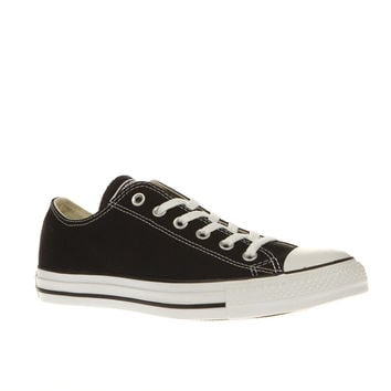 converse black all star lo trainers