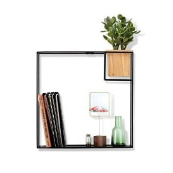 Umbra Cubist Wall Shelf, Large, Black