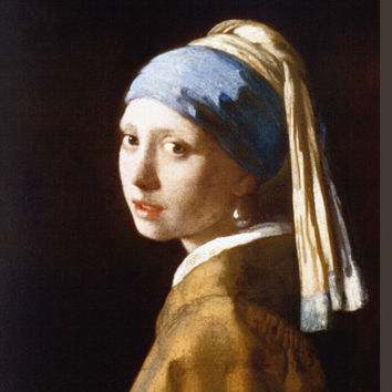 Girl with a Pearl Earring Art Print by Jan Vermeer at Art.com