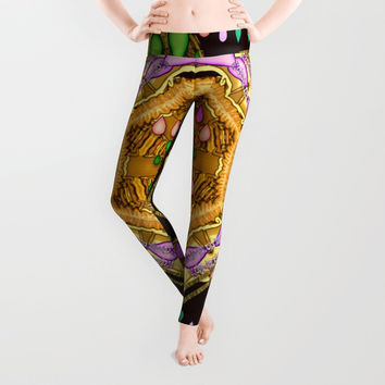 Raining love peace over the creation of life Leggings by Pepita Selles