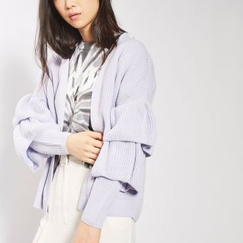 Ruffle Sleeve Cardigan - New In