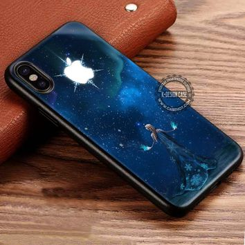 Beautiful Night Sky Princess Elsa Frozen iPhone X 8 7 Plus 6s Cases Samsung Galaxy S8 Plus S7 edge NOTE 8 Covers #iphoneX #SamsungS8