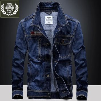 Cool ZHAN DI JI PU Brand Clothing jaqueta Denim Jacket Men Jeans 138AT_93_12