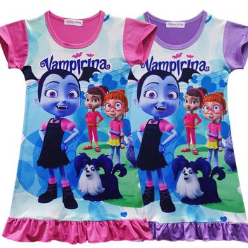 Vampirinas Cosplay Costumes Girls Vampirina Dress Girls sleepwear Nightgown summer children clothing H983