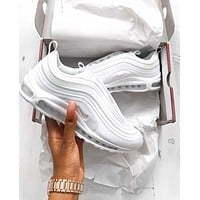 Nike Air Max 97 All White Fashion Running Sneakers Sport Shoes