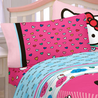 Hello Kitty Bed Sheet Set Free Time Bedding Accessories: Full