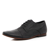 River Island MensBlack leather formal shoes