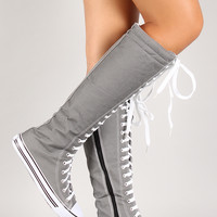 Lace Up Knee High Sneaker