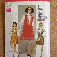 Vintage 1960s Teen Sewing Pattern Simplicity 8364, Size 13-14 // Vintage Jumper