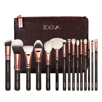 15pcs Rose Golden Makeup Brush Set Professional Complete Set