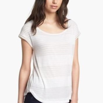 (SzM) Splendid Double Layer Striped Dolman Top Shirt Tee Nordstrom NwD (In-78)