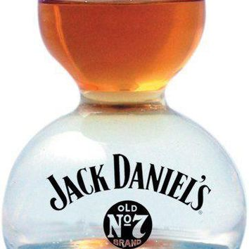 Jack Daniels Old No 7 Whiskey On Water Shot Glass Jigger Chaser ~ NEW!