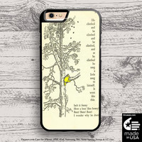 winnie the pooh book and tree case for iphone 5s 6s case, samsung, ipod, HTC, Xperia, Nexus, LG, iPad Cases