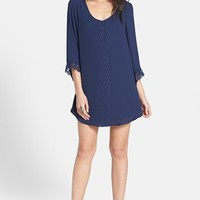 ASTR Lace Trim Shift Dress | Nordstrom
