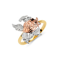 14K Tricolor Angel Fish Ring, Angel Fish Ring, Fish Ring, Angel Ring, Gold Ring, Angel Fish Jewelry, Fish Jewelry, Angel Fish, Fish