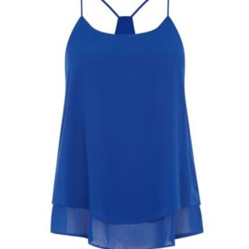 Blue Double Layer Chiffon Cami